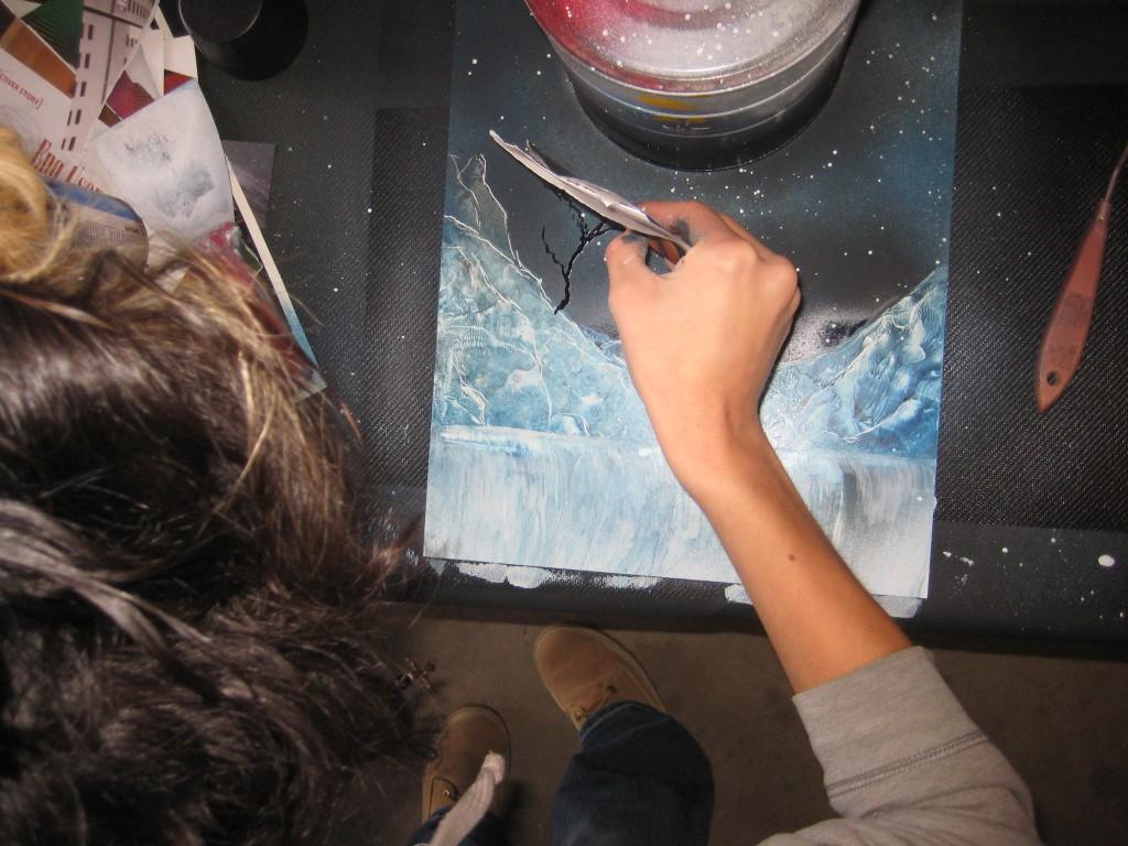 spray paint art class alma ancel valadez. Black Bedroom Furniture Sets. Home Design Ideas