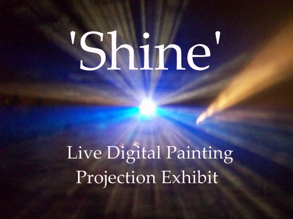 Shine projection exhibit poster
