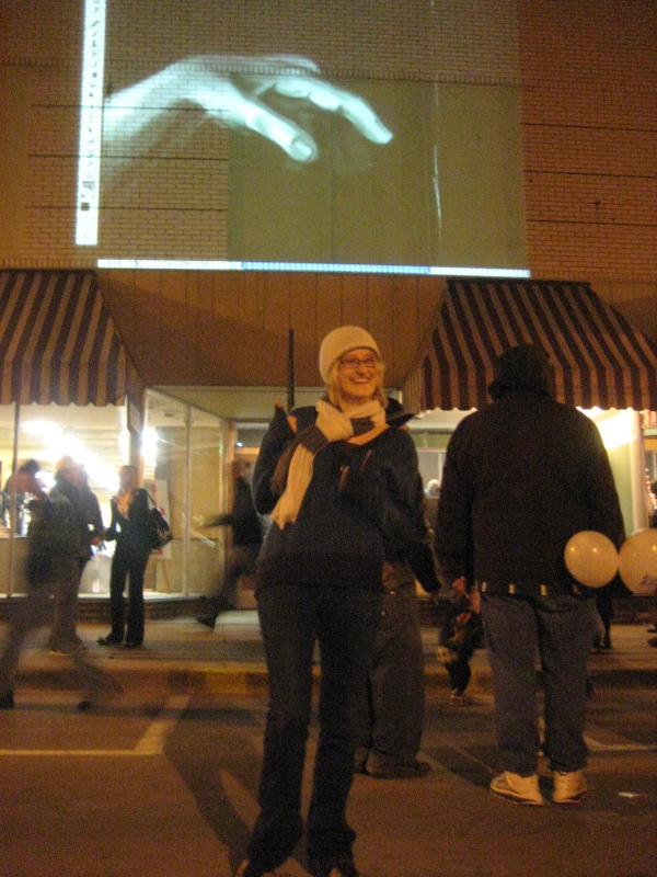 Christine Kuster - live projection exhibit - Muscatine Holiday Stroll