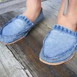 Recycled Jeans Footwear - DIY Footwear